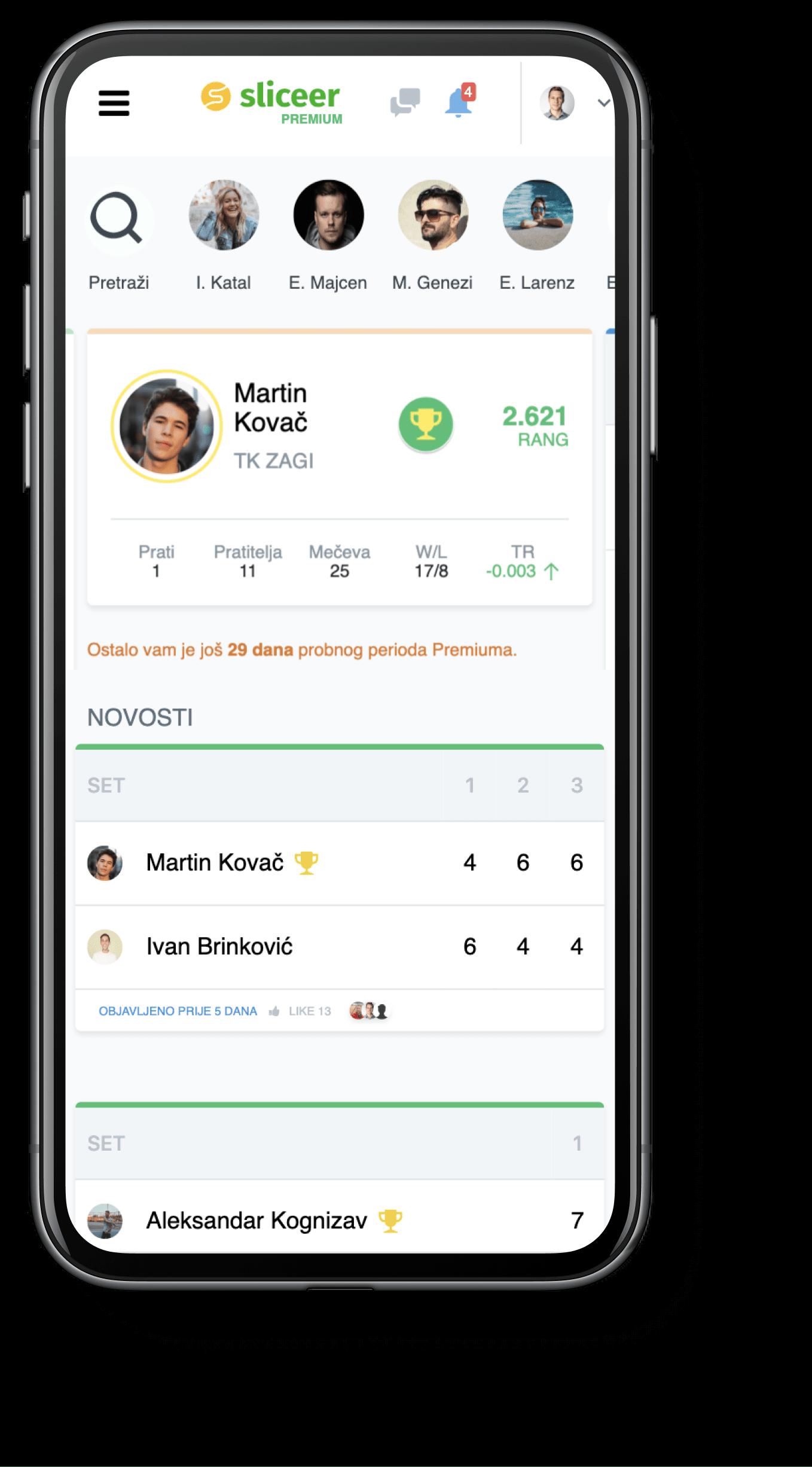 Sliceer mobilna aplikacija